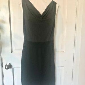 Halogen Color Block Cowl Neck Pencil Skirt Dress
